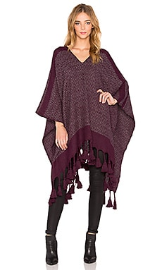 Tejido Diamond Poncho in White & Grey