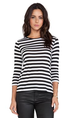 TEXTILE Elizabeth and James Marly Stripe Tee in Black & White