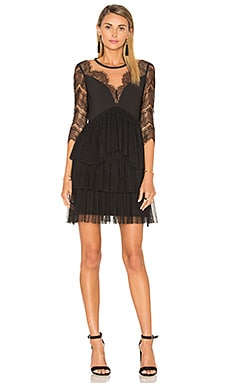 Three Floor French Twist Dress in Black