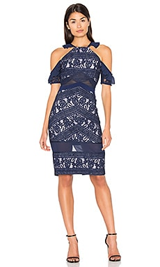 Inky Dress in Navy & Lilac