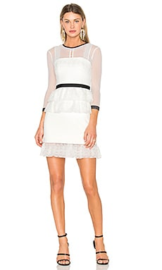 Duchess Dress in Off White & Black