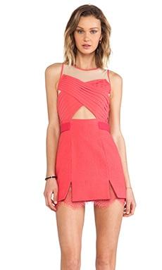 Three Floor La Femme Dress in Paradise Pink/ Nude