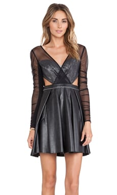 Three Floor Chancer Dress in Metallic & Black