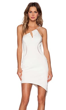Three Floor Whitewash Dress in White