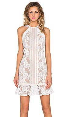 Three Floor White Noise Mini Dress in Bright White