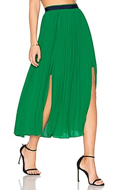 Envy Skirt in Emerald Green