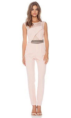 Three Floor Realm Jumpsuit in Soft Pink & Taupe