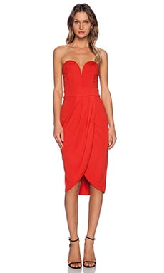 TFNC London Cara Mini Dress in Red