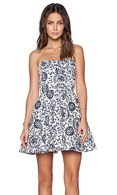 TFNC London Tibi Shape Dress in Navy & White