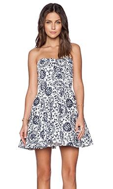 TFNC London Tibi Shape Dress in Navy & White