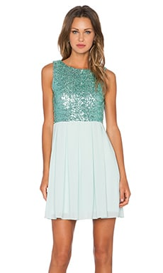 Sarah Sequin Dress in Mint