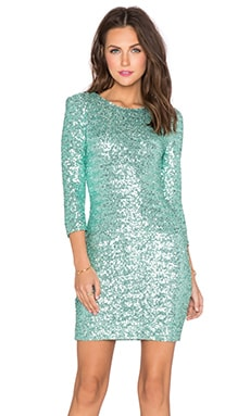 TFNC London Paris Sequin Dress in Mint
