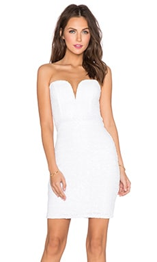 TFNC London Halo Sequin Dress in White