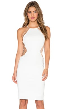 TFNC London Livia Dress in White & Gold