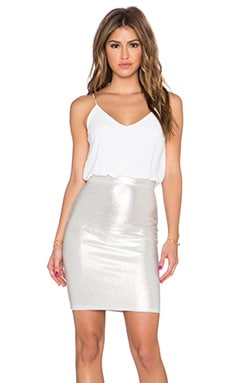 TFNC London Annie Dress in White & Gold