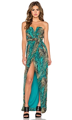 TFNC London Layla Dress in Tropical Green