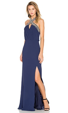 TFNC London Cache Maxi Dress in Navy
