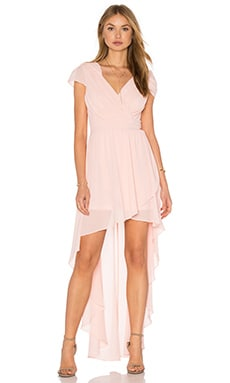 Hadie Hi Lo Dress in Crystal Pink