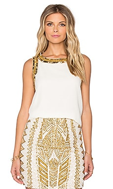 TFNC London Nush Top in Cream & Gold