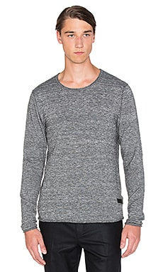 Tiger of Sweden Rip Sweater in Grey Melange
