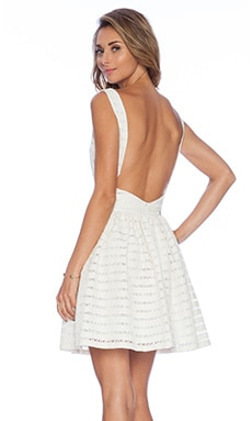 Thakoon Addition Open Back Dress in Ivory