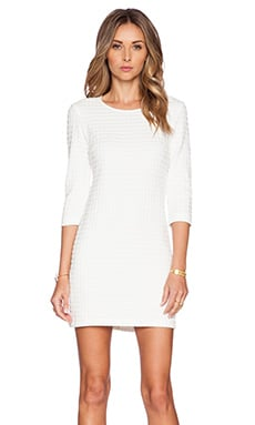 Theory Mini Shift Dress in White & White