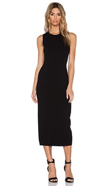 Theory Vysa Midi Dress in Black & White