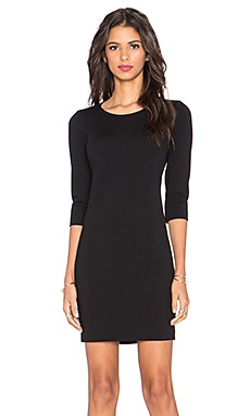 Theory Mini Shift K Dress in Black