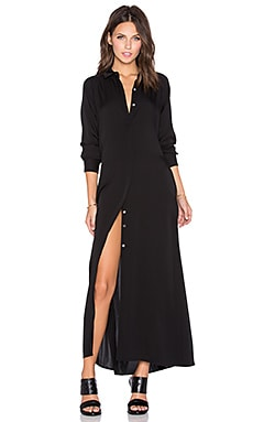 Theory Scenta Maxi Dress in Black