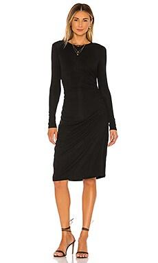 Long Sleeve Gather Waist Dress Theory $275