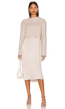 Long Sleeve Layered Dress Theory $445