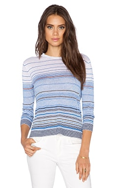 Theory Rainee E Sweater in Multi Stripe