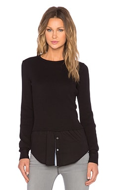 Theory Mikaela Thermal Pullover in Black