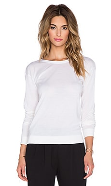 Theory Karinalee Reversible Sweater in Ice White
