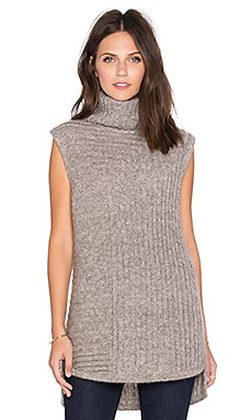 Theory Beylor Sweater Tank in Stone Grey