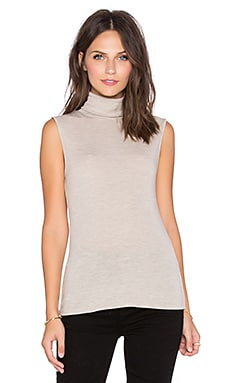 Theory Aleti Sweater Tank in Heather Oatmeal