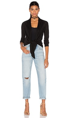 Theory Milaria Tie Knot Cardigan in Black