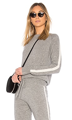 Athletic Stripe Pullover Sweater