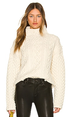 Mixed Cable Pullover Theory $495 NEW