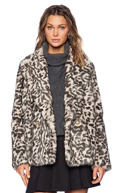 Theory Lianamar Sociable Rabbit Fur Jacket in Natural Brown