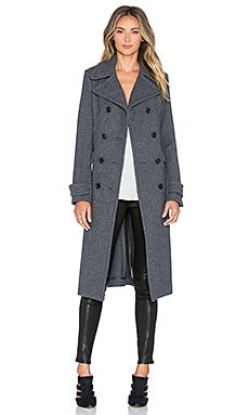 Theory Kenshon Coat in Charcoal