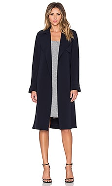Theory Oaklane Trench Coat in Deep Navy