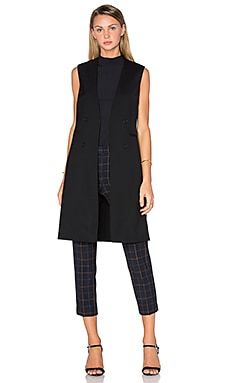 Theory Aggie Long Vest in Black
