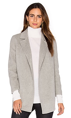 Theory Clairene Coat in Melange Grey