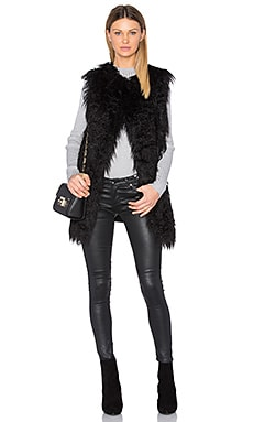 Nyma Faux Fur V Vest in Black