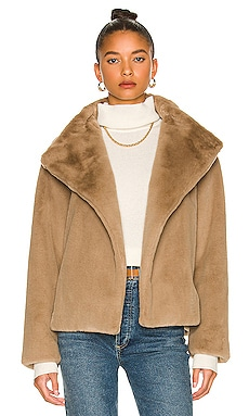 Offset Faux Fur Jacket Theory $595
