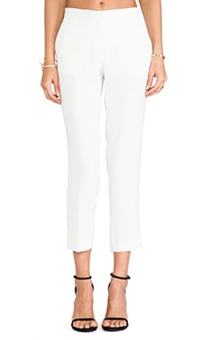 Theory Item Cropped Pant in Ivory