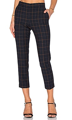 Theory Treeca Pant in Dark Navy Multi
