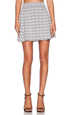 Theory Rortie C Skirt in White & Black