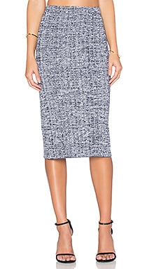 Theory Nellida Skirt in White & Deep Navy